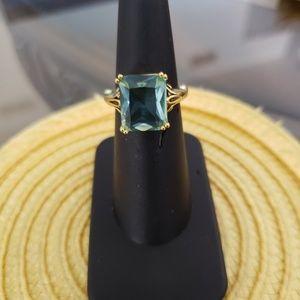 VINTAGE  ☆ Aquamarine Stone Ring, 6, GORGEOUS!